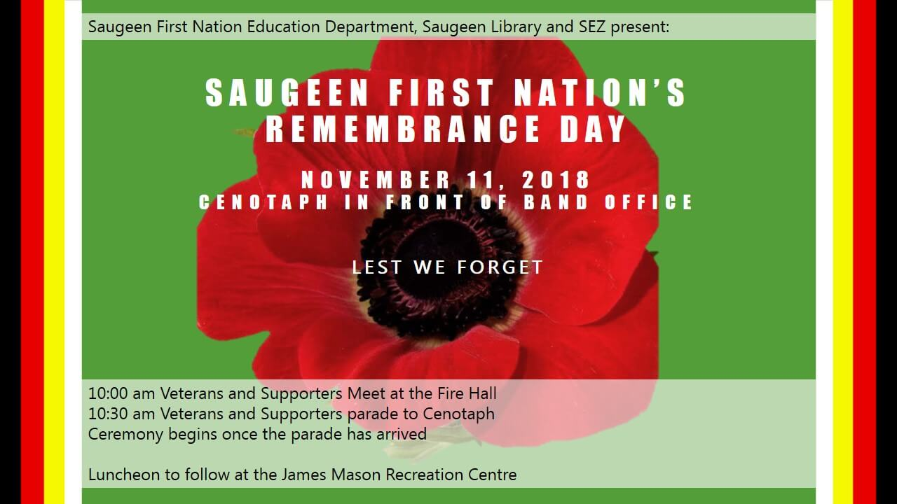 Remembrance Day Parade - Saugeen First Nations